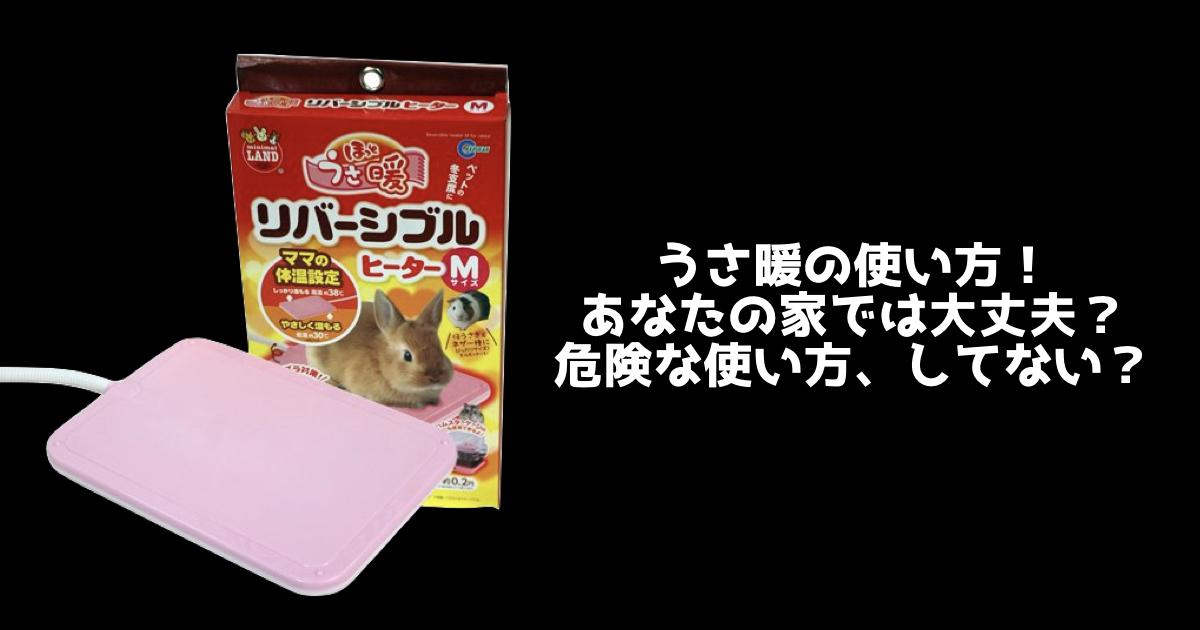 【飼育用品】その使い方、危険かも?うさ暖の使い方にはくれぐれも気をつけましょう
