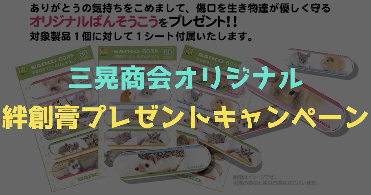 デグー・プラスを購入するとSANKOオリジナル絆創膏がついてくる!?